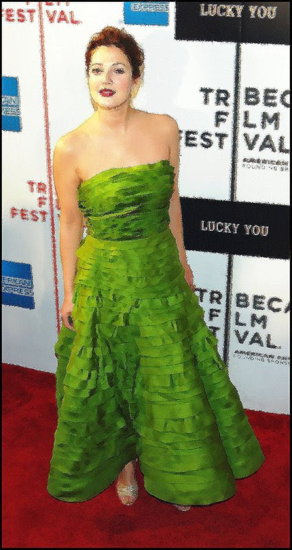 Drew Barrymore Hochleithen Red Carpet Lucky You