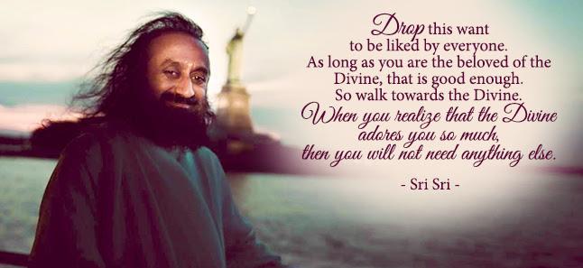 Sri Sri Ravi Shankar Celebrating Life With Silence The Source Of