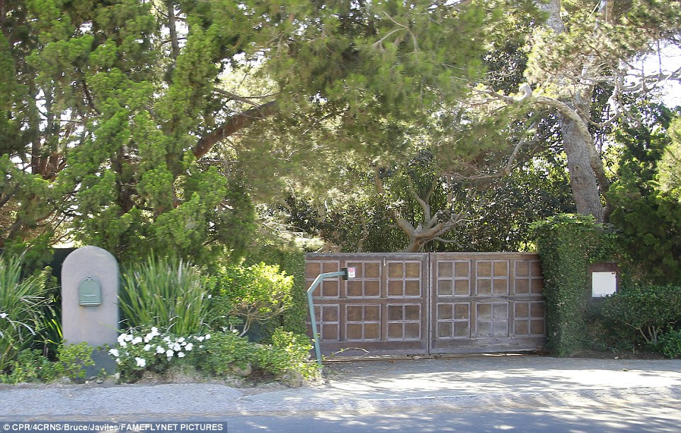 Behind closed doors: The gated compound is perfect for keeping herself and her children - Maddox, 15, Pax, 12, Zahara, 11, Shiloh, 10, and twins Vivienne and Knox, aged eight - away from prying eyes and her now-estranged husband