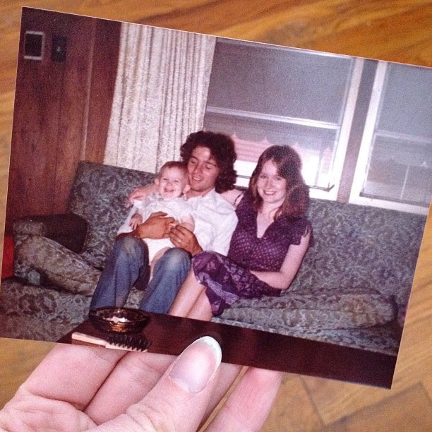 Day108 Being 1200 miles away from my parents isn't easy! Missing them told. Photo taken in 1983!  #jessie365 4.19.13