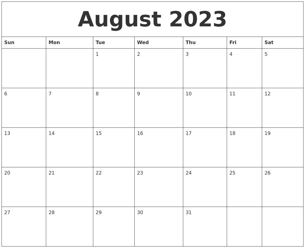 august 2023 free downloadable calendar