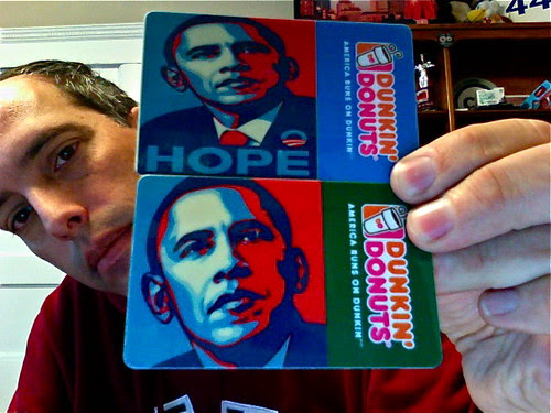 Dunkin' Donuts Custom Barack Obama Card