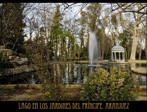 lago en los Jardines del Príncipe