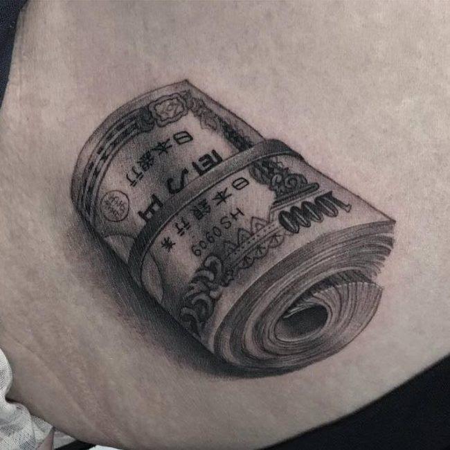 52de4924f7537 75 Best Money Tattoo Designs Meanings Get It All 2018