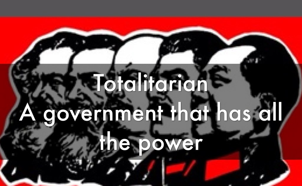 totalitarian government