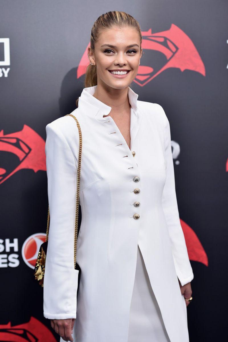 NINA AGDAL at 'Batman vs Superman: Dawn of Justice' Premiere in New York 03/20/2016