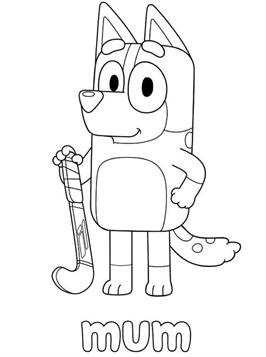 kidsnfun  19 coloring pages of bluey