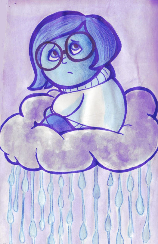 Inside Out Drawing Sadness At Getdrawingscom Free For Personal