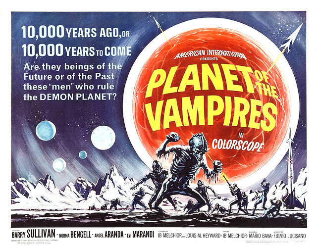 Reynold Brown - Planet of the Vampires (American International, 1965) half sheet