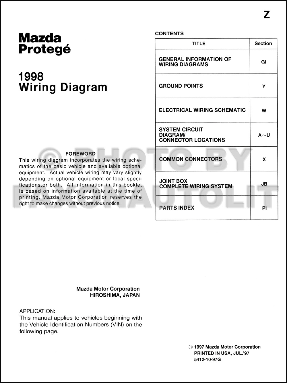 Diagram 200mazda Protege Wiring Diagram Manual Original Full Version Hd Quality Manual Original Nidiagramsh Museozannato Agnochiampo It