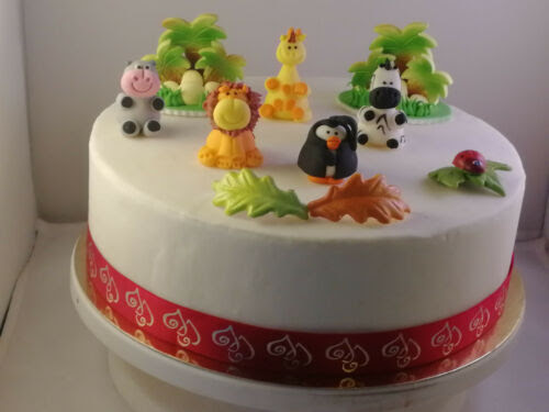 Home Furniture Diy Edible Sugar Cake Decoration African Zoo Birthdaycake 3d Cake Toppers Decorations Cake Toppers
