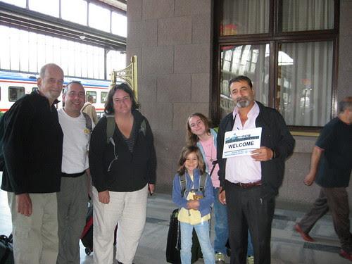 Greeted at the Ankara Train station