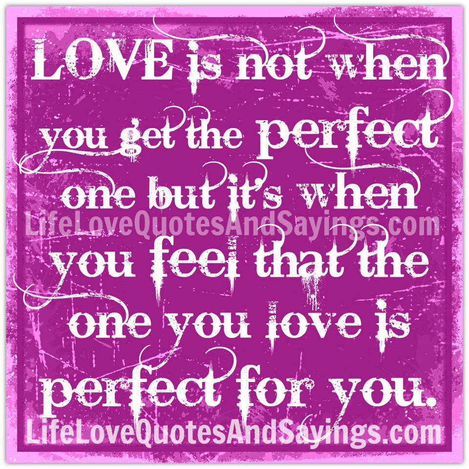 Romantic Cute Perfect Love Quote You Are Not Perfect But Treats