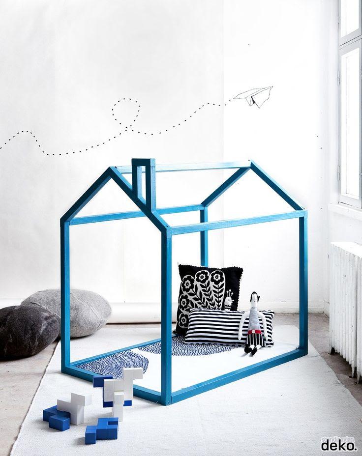 Wooden playhouse DIY by Scandinavian deko