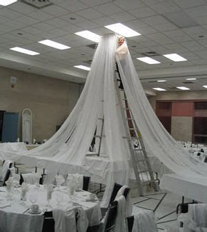 How To Hang Gossamer   How to Hang Ceiling Draping