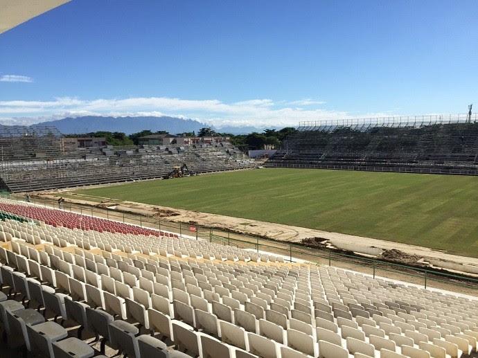 Estádio Luso-Brasileiro, na Ilha do Governador, será usado pelo Flamengo (Foto: Rafael Strauch / Divulgação)