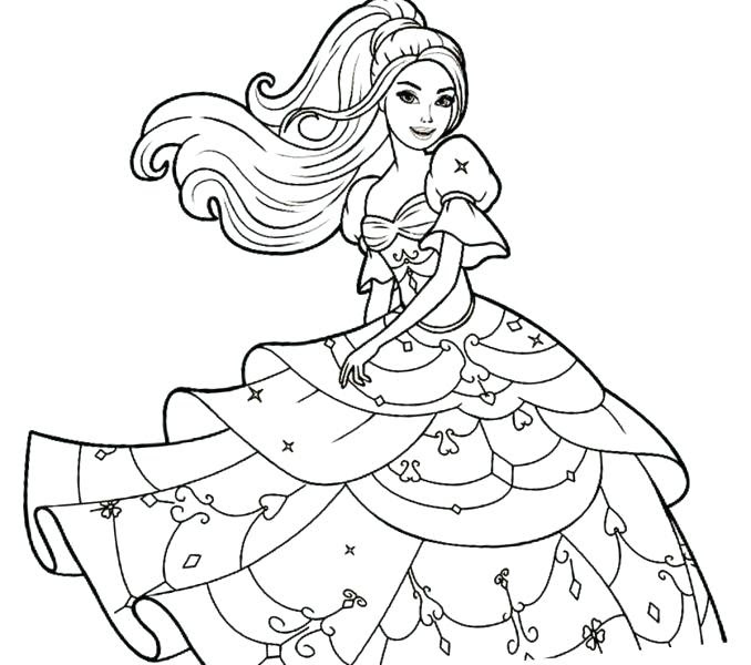 Coloring Pages Of Barbie Princess Coloring And Drawing