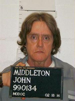 O preso John Middleton em foto de 18 de fevereiro (Foto: Missouri Department of Corrections/Reuters)
