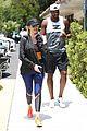 khloe kardashian tristan thompson hit the gym together in calabasas 01