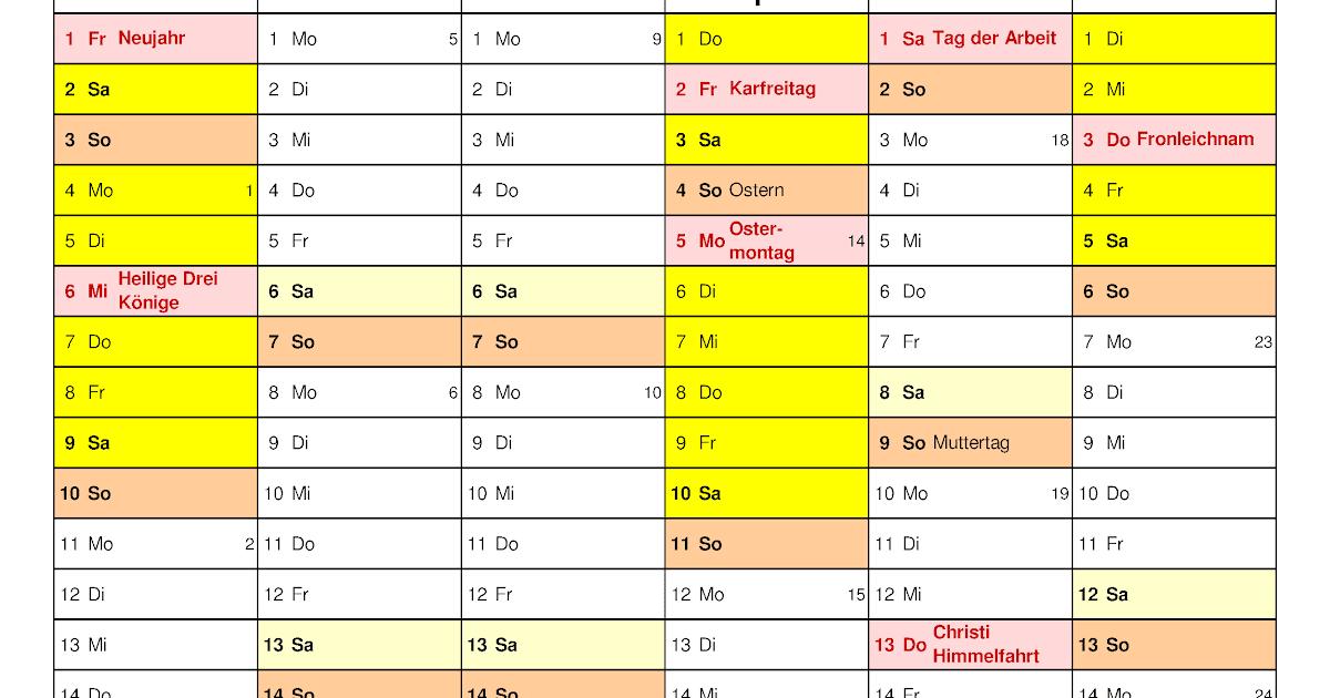 Kalender 2021 Bayern / Kalender 2021 2022 Bayern ...