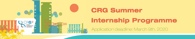 Center for Genomic Regulation Spain SUMMER INTERNSHIP PROGRAM 202 for BSc/MSc Students