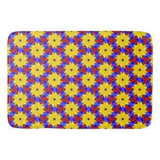 Beautiful Pinwheel-like Design on Bathmat! Bath Mats