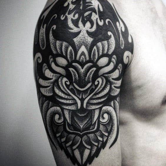 40 Tribal Tiger Tattoo Designs For Men Big Cat Ink Ideas