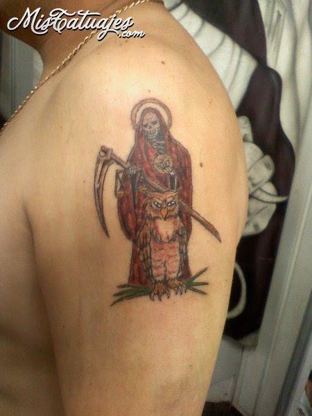 Santa Muerte Tattoo Side Tattoomagz