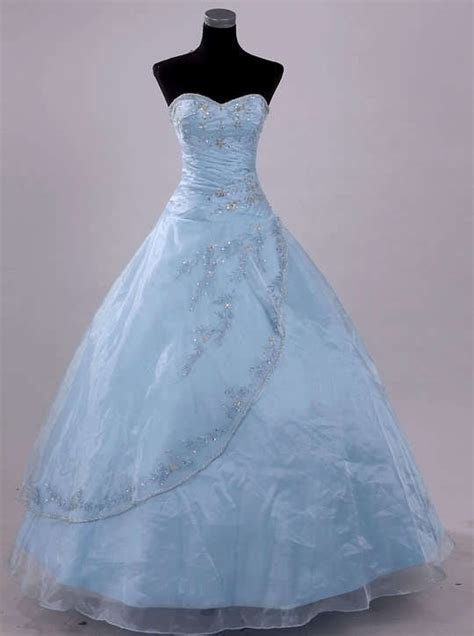 stock light blue wedding dress pageant ball prom size