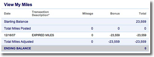 Making a Plane Reservation: View My Miles