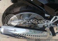 Foto do disco traseiro da Kahena 250 Dual
