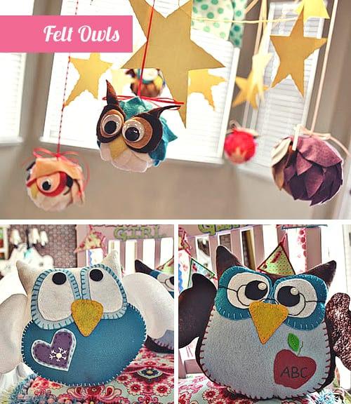 Owl Birthday Party - Felt Crafts