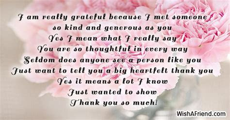 I am really grateful because I, Thank You Card Message