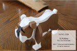 3D Bulldog Woodworking Pattern - fee plans from WoodworkersWorkshop® Online Store - 3D-3-D,dogs,pets,bulldogs,animals,plywood,yard art,painting wood crafts,scrollsawing patterns,drawings,plywood,plywoodworking plans,woodworkers projects,workshop blueprints