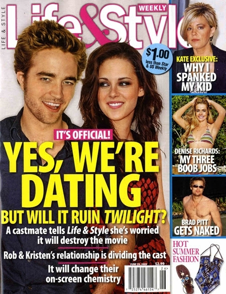 kristen stewart and robert pattinson kissing in real life. house Robert Pattinson Dumps