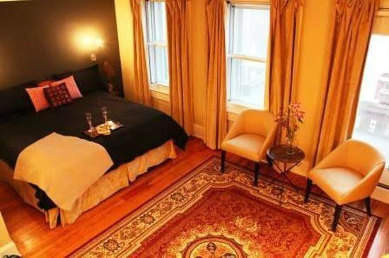 Joyice Ann suite's king-size bed, triple-pane windows & black-out ...