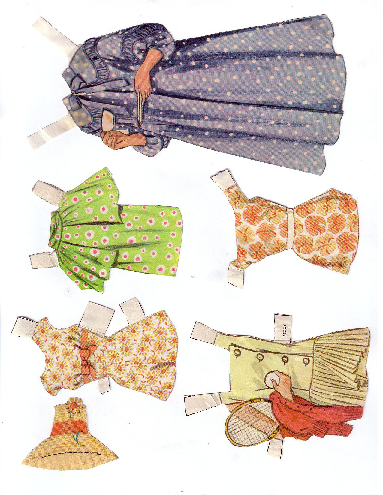 Hayley Mills - Summer Magic paper doll set (1963) 010