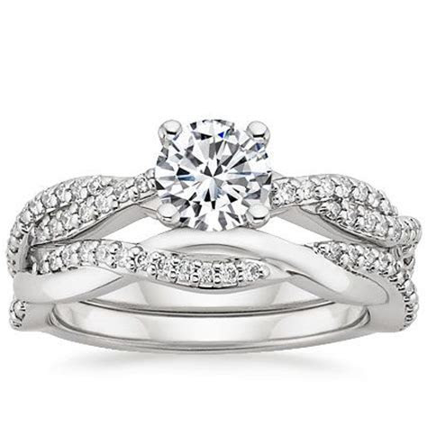 18K White Gold Twisted Vine Matched Set (1/3 ct.tw.) from