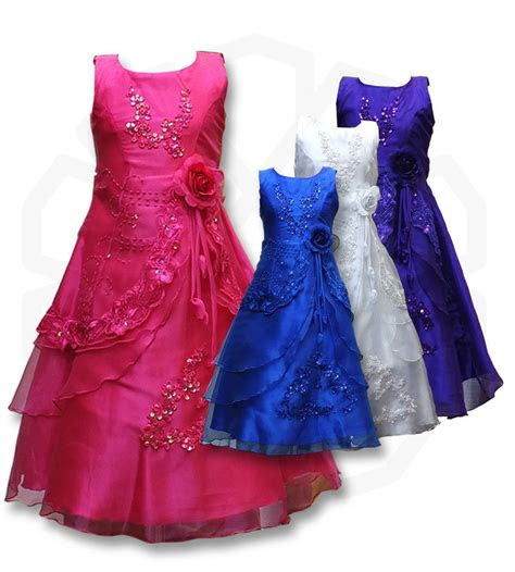 flower girls formal layered wedding dresses bridesmaid