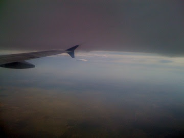 Flying under a storm to Madison
