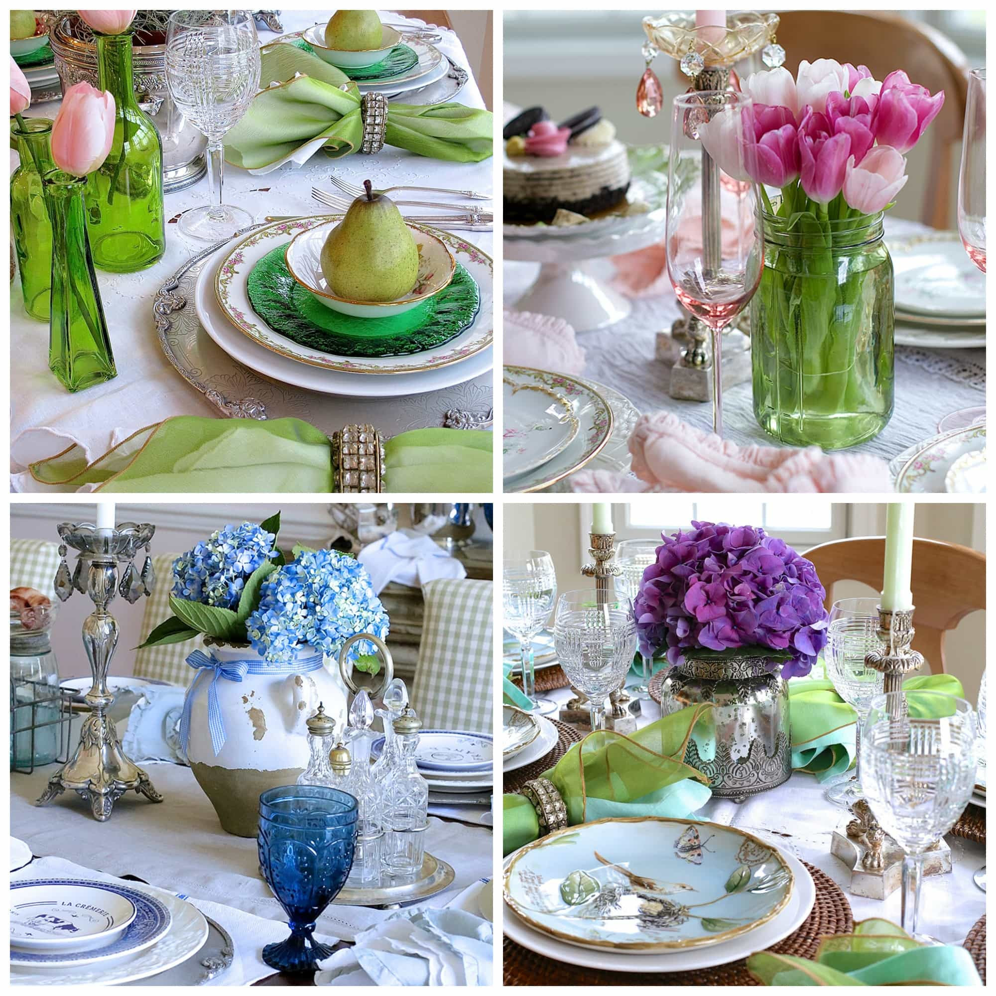 Spring Centerpieces and Tablescapes
