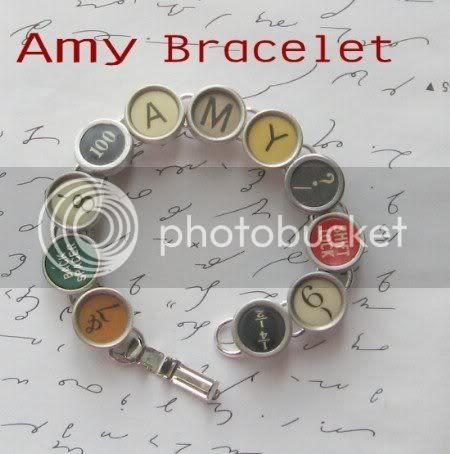 LizzyBleu typewriter bracelet