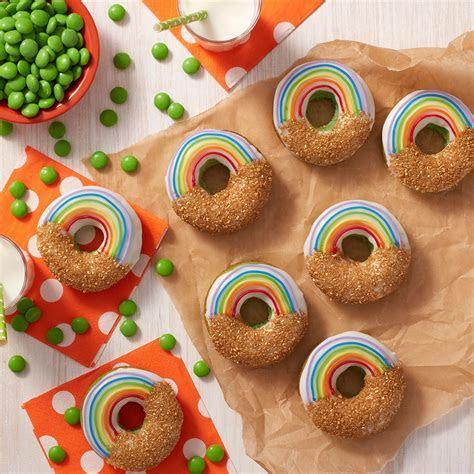 Adorable Gold & Rainbow Donuts   Wilton