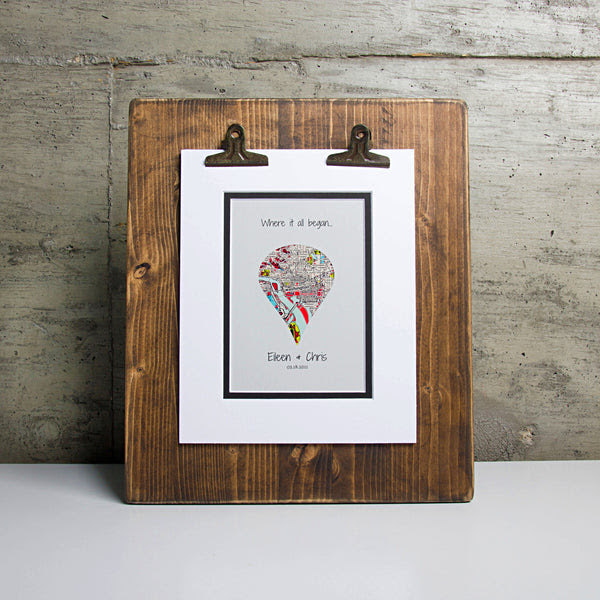 Where It All Began Personalized 1st Anniversary Or Wedding Gift