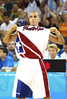 Carlos Arroyo after the 2004 victory over Team USA