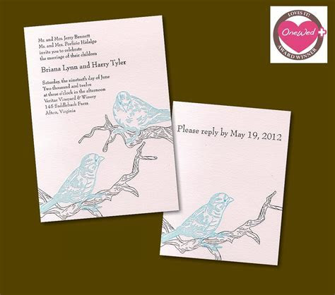 These nature inspired letterpress wedding invitations are
