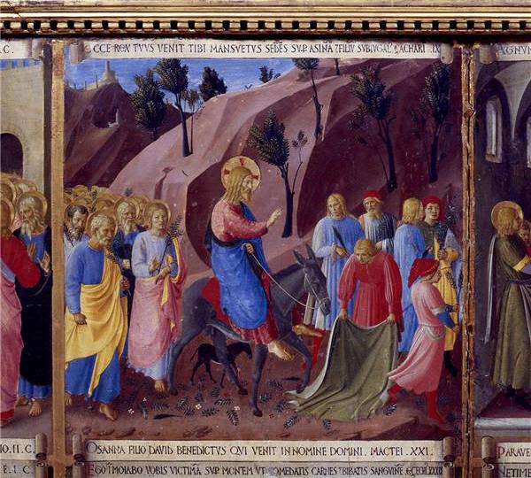The triumphal entry of Jesus into Jerusalem