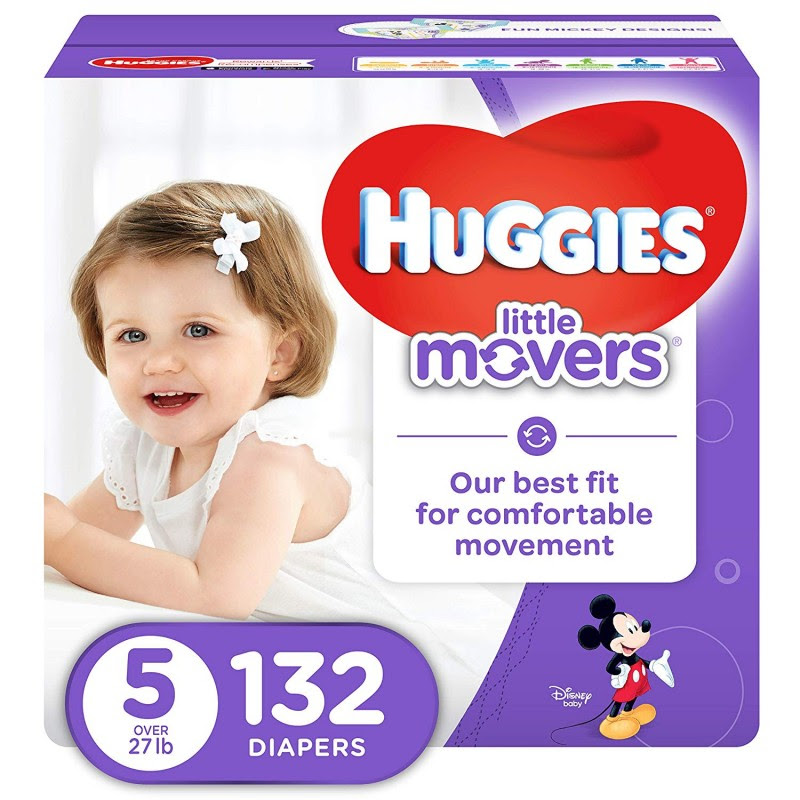 Huggies Little Movers Active Baby Diapers, Size 5