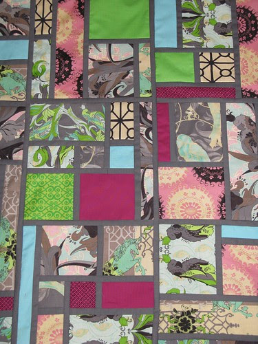 Stained Quilt, close up