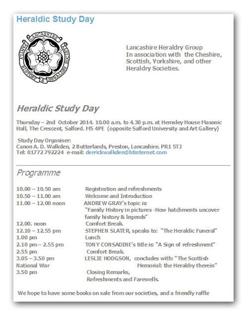 Heraldry Study Day